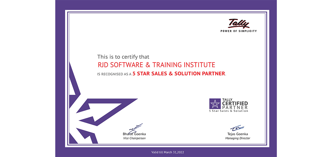5STAR Tally Certificate